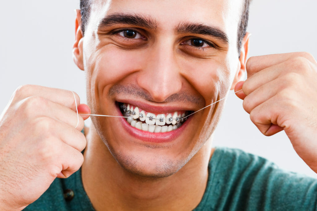 Dental Hygiene - Flossing with Braces