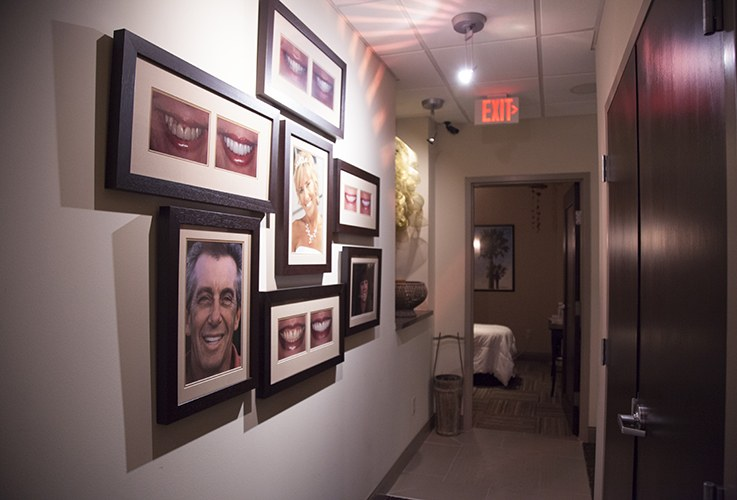 Hallway with patient photos