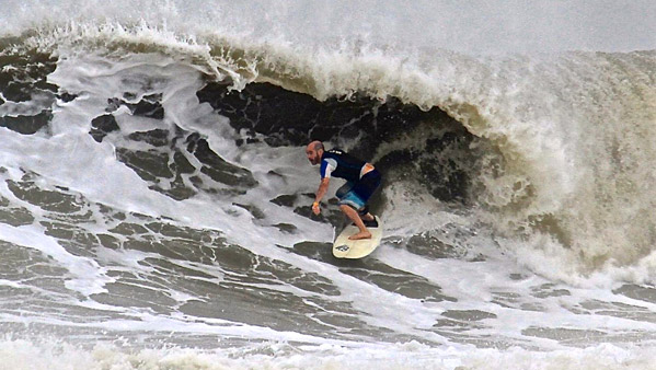 Dr. Wagner surfing